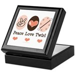 Peace Love Twirl Baton Twirling Keepsake Box