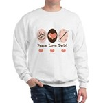 Peace Love Twirl Baton Twirling Sweatshirt