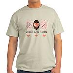 Peace Love Twirl Baton Twirling Light T-Shirt