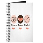 Peace Love Twirl Baton Twirling Journal