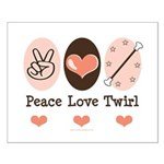 Peace Love Twirl Baton Twirling Small Poster
