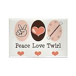 Peace Love Twirl Baton Twirling Magnet 100 Pk