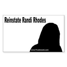 Reinstate Randi Rhodes Rectangle Decal