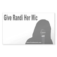 Give Randi Her Mic Rectangle Sticker 50 pk)