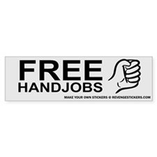 Free Hand Jobs - Revenge Car Sticker