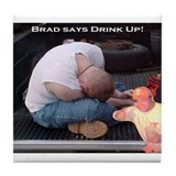 Cute Brad Tile Coaster