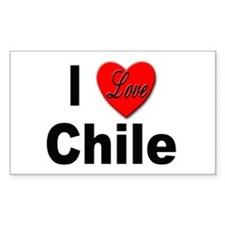 I Love Chile for Chile Lovers Sticker (Rectangular