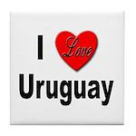I Love Uruguay Tile Coaster