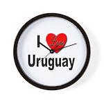 I Love Uruguay Wall Clock