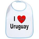 I Love Uruguay Bib