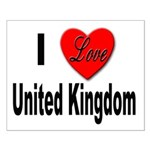 I Love United Kingdom Small Poster