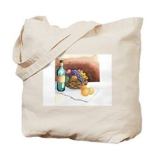 two sidded apple + wine with fruit basket Tote Bag