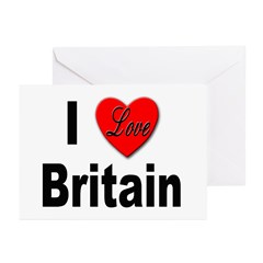 I Love Britain Greeting Cards (Pk of 10)