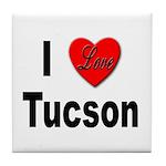 I Love Tucson Arizona Tile Coaster