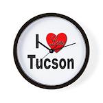 I Love Tucson Arizona Wall Clock