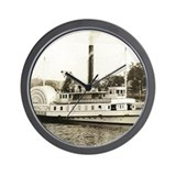 NH Winnipesaukee Steamship History Wall Clock