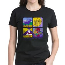 relax and smile, it's sequim women's dark t-shirt