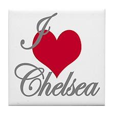 I love (heart) Chelsea Tile Coaster