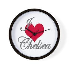 I love (heart) Chelsea Wall Clock