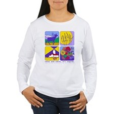 relax and smile, it's sequim W long sleeve t