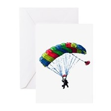 Sky Diver Greeting Cards (Pk of 10)
