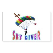 Sky Diver Rectangle Decal