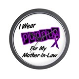 I Wear Purple 8 (Mother-In-Law) Wall Clock