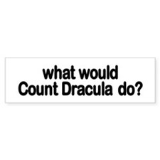 Count Dracula Bumper Bumper Sticker
