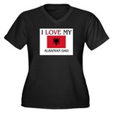 I Love My Albanian Dad Women's Plus Size V-Neck Da
