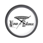 VOW OF SILENCE Wall Clock