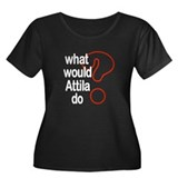 Attila Women's Plus Size Scoop Neck Dark T-Shirt