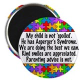 "He Has Asperger's 2.25"" Magnet (10 pack)"