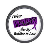 I Wear Purple 8 (Brother-In-Law) Wall Clock