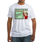 Grammar Lady is Watching You Fitted T-Shirt
