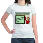 Grammar Lady is Watching You Jr. Ringer T-Shirt