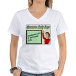 Grammar Lady is Watching You Women's V-Neck T-Shir