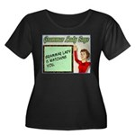 Grammar Lady is Watching You Women's Plus Size Sco
