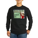 Grammar Lady is Watching You Long Sleeve Dark T-Sh