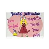 Nursing Instructor Rectangle Magnet