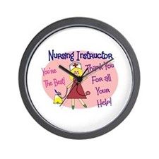 Nursing Instructor Wall Clock