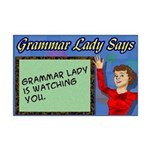 Grammar Lady is Watching You Mini Poster Print