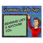Grammar Lady is Watching You Small Poster