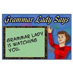 Grammar Lady is Watching You Large Poster
