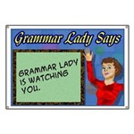 Grammar Lady is Watching You Banner