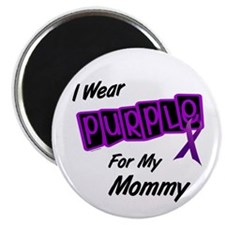 "I Wear Purple For My Mommy 8 2.25"" Magnet (100 pac"