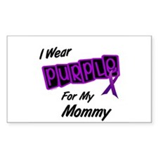 I Wear Purple For My Mommy 8 Rectangle Decal