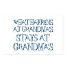 STAYS AT GRANDMA'S (blue) Postcards (Package of 8)
