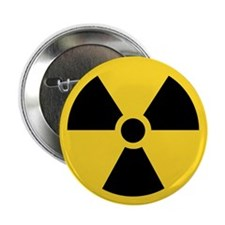 "Radiation Symbol 2.25"" Button"