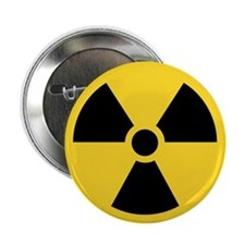 "Radiation Symbol 2.25"" Button (100 pack)"