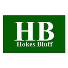 Green Hokes Bluff Rectangle Decal